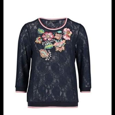 Granatowa bluzka w kwiaty Betty Barclay