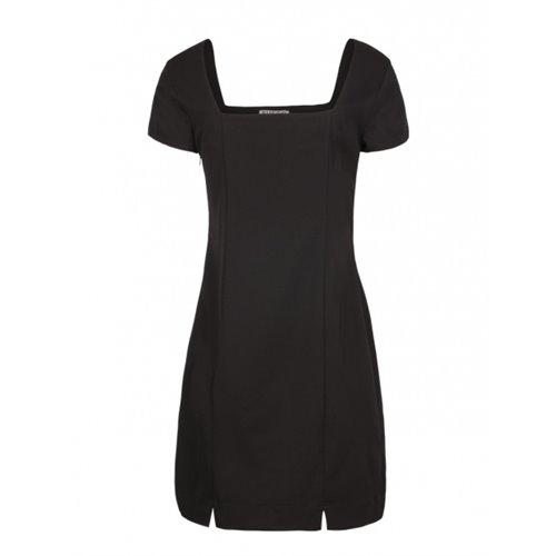 Czarna sukienka FUEGO WOMAN z aplikacją