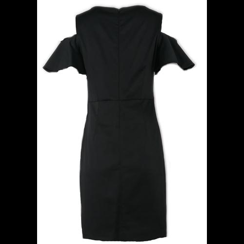 Czarna sukienka FUEGO  z palmami