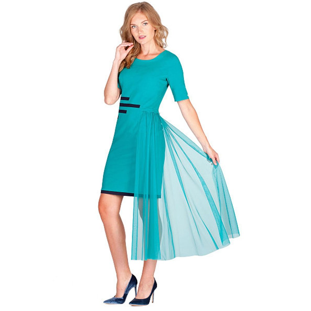 Szmaragdowa sukienka POLA MONDI   MARTA