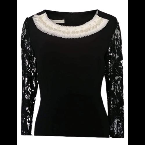Koronkowa czarna sukienka z POLA MONDI BY MERLA