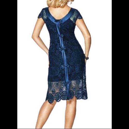 Granatowa koronkowa sukienka Marselini