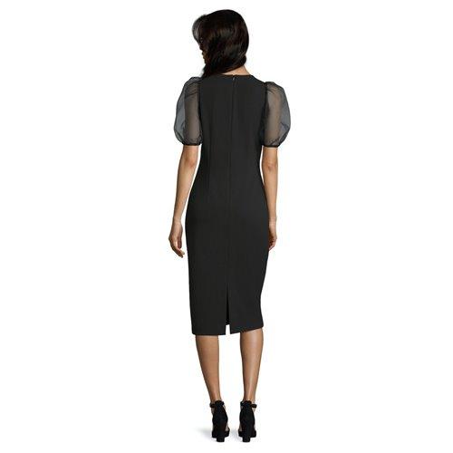 Wizytowa Czarna Sukienka Vera Mont