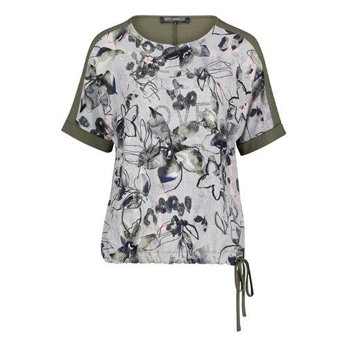 Oliwkowa ze wzorem bluzka Betty Barclay