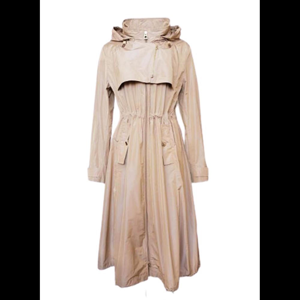 Beżowy płaszcz z kapturem DIEGO M