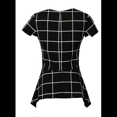 Czarna bluzka w kratę ELLA BOO