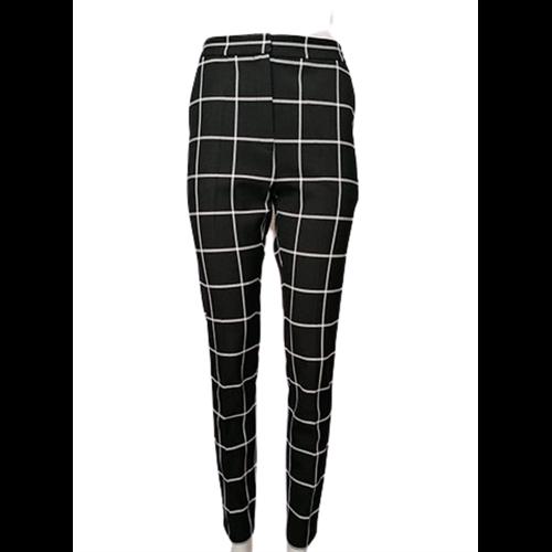 Czarne spodnie w kratę ELLA BOO